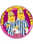 7.5 Personalised Bananas in Pyjamas Icing or Wafer Birthday  Cake Top Topper NEW Freepost